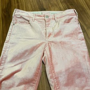 Pink Pants Soft Pilcro and the Letterpress skinny